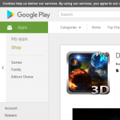 FREE Deep Space 3D Pro lwp @ Google Play Deal Image