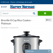 Breville 8 Cup Rice Cooker $29 @ Harvey Norman Deal Image