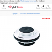 Toshiba TY-SP1 Bluetooth Speaker for $34.90 @ Kogan Deal Image