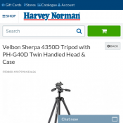 Velbon Sherpa 4350D Tripod with Twin Handled Head & Case $100 Deal Image