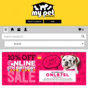 10% OFF Online 6th Birthday Sale with code @My Pet Warehouse Deal Image