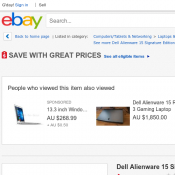 Dell Alienware 15 Signature Edition Gaming Laptop $1999 (RRP $3499)