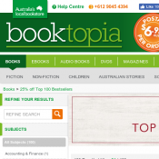 Save 25% Top 100 Bestsellers @Booktopia Deal Image