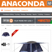 Dune Woodland Cabin Tent Green & Grey $449.99 (RRP $899.99)