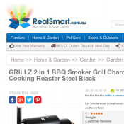 GRILLZ 2 in 1 BBQ Smoker Grill $101 (was $134) @ RealSmart