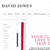 Buy 2 or more Clarins products and receive love your skin gift @David Jones Deal Image