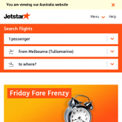 Friday Fare Frenzy - Melbourne to Queenstown $149 @Jetstar Deal Image