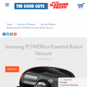 Samsung POWERbot Essential Robot Vacuum FOR $244 @ HN Deal Image