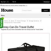 Honey-Can-Do Travel Duffel $4.95  @ House