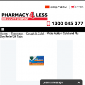 Vicks Action Cold and Flu Day Relief 24 Tabs $4.99 Deal Image