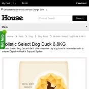 Holistic Select Dog Duck 6.8KG $62.99  Deal Image