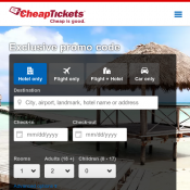 Save an extra 16% on selected hotels with promo code @Cheap Tickets Deal Image