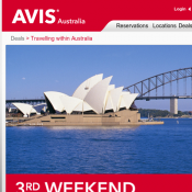 3rd Weekend Day Free with code  @AVIS Deal Image