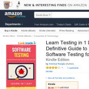 Free eBook: Learn Software Testing in 1 Day by Krishna Rungta Deal Image