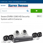 Swann DVR8-1580 HD Security System with 6 Cameras $337