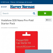Vodafone $30 Nano Pre-Paid Starter Pack $15 (RRP $30) Deal Image