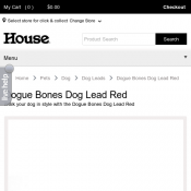 Dogue Bones Dog Lead Red $22.05 Deal Image