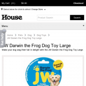 JW Darwin the Frog Dog Toy Large $10.39 Deal Image
