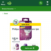 Philips Led Mr16 Warm 1pk $5 (was $10)