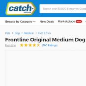 Frontline Original Medium Dog 10-20kg $25  Deal Image