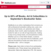 Up to 60% Book Sales @Abebooks Deal Image