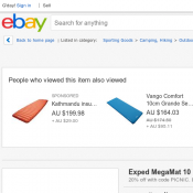 Exped MegaMat 10 LXW - Self-Inflating Sleeping Mat $271.96 (RRP $339.95) Deal Image