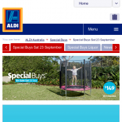 ALDI Special Buys 23 September - Trampoline $149, Double Swing $149 Deal Image