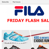 Fila Friday Flash Sale Kids Exodus Runner now $20 (RRP $80) Deal Image
