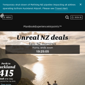 Air New Zealand Offers Sydney to Auckland $195, Melbourne to Auckland $185, Pert to Auckland $415 Deal Image