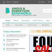 4 Days Sale Up to 40% OFF Selected Books @Angus&Robertson Bookworld Deal Image