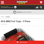 SCA BBQ Foil Trays - 5 Piece Was $3.00 each Now $2.00  Deal Image