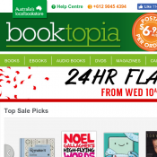 24 Hour Flash Sale - Save up to 90% @Booktopia Deal Image
