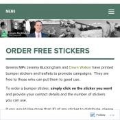 Order Free Stickers @The Greens Deal Image