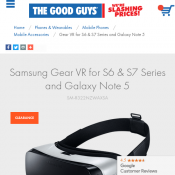 Samsung Gear VR for S6 S7 and Note 5 Deal Image