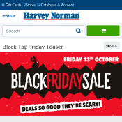 Harvey Norman Black Friday Sale Only One Day 13 October  Deal Image