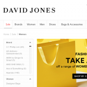 David Jones Take an Extra 40% OFF women's fashion, shoes and accessories  Deal Image