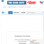 The Good Guys everything For Your Kitchen Catalogue 12 October - 25 October
