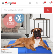 Cooling Gel Dog Pet Mat Bed in 5 Sizes From $11 (RRP $19) Deal Image