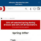 20% off selected Spring Racing dresses and 20% off all fascinators @Target Deal Image