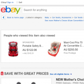 Mother's Choice Allure Convertible Car Seat Product weight: 4.7kg AU $149 (RRP AU $299) Deal Image