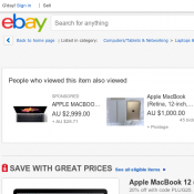 Apple MacBook 12 (2015 Model, 8GB RAM 512GB) $1263 (RRP $1759) Deal Image