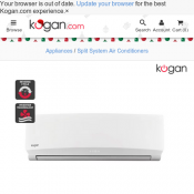 Kogan 5.1kW Reverse Cycle Inverter Split System Air Conditioner $889 Deal Image