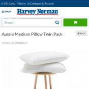 Aussie Medium Pillow Twin Pack FOR $20 Deal Image