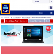 ALDI Special Buys On sale Wednesday 1 November - TV and Tech Offers  Deal Image