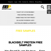 Blackbelt Protein Free Samples  Deal Image