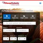 Save Up to $75 flight + hotel @Cheap Tickets with code  Deal Image