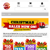 Christmas Sales - Get up to $450 Voucher