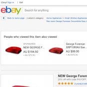 NEW George Foreman GRP10 Convertible Easy to Clean Grill $55 Deal Image