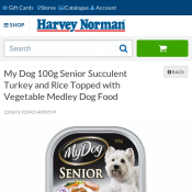 My Dog 100g Senior Succulent Turkey Dog Food $0.50 Deal Image