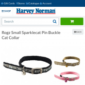 Rogz Small Sparklecat Pin Buckle Cat Collar $2 each Deal Image